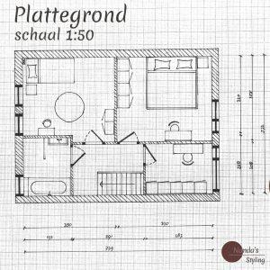 indelingsplan eerste verdieping vierkant