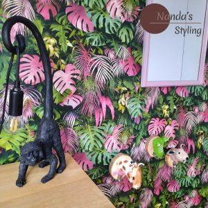 kinderkamerstyling pink jungle Kinderkamerstylist Nanda's