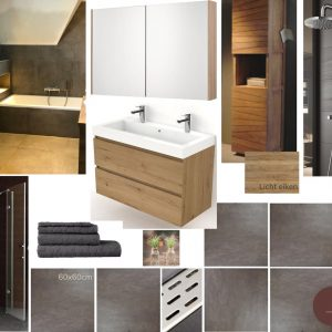 moodboard meubelplan badkamer