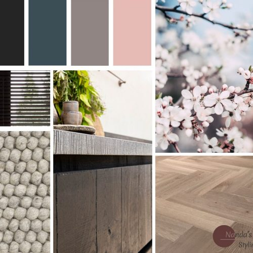 moadboard kleuradvies en materialenadvies nieuwbouwwoning