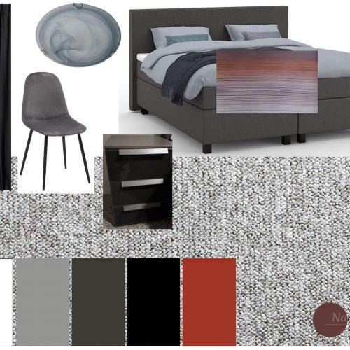 moodboard meubelplan slaapkamer